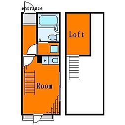 ロータスガーデン大島[3階]の間取り