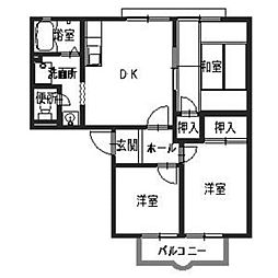ロジュマン山本[2階]の間取り