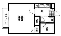 宮城県仙台市青葉区北山2丁目の賃貸アパートの間取り