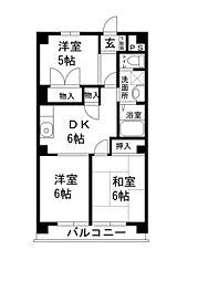 サニーヒルマンション[503号室]の間取り