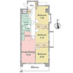 ザ・ミレニアムタワー[4階]の間取り