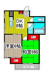 エクセレント松田[2階]の間取り