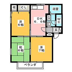 フローレンスC[2階]の間取り