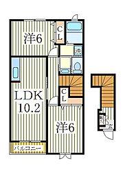 レストインピース2[2階]の間取り