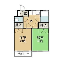 蔵本マンション[7号室]の間取り