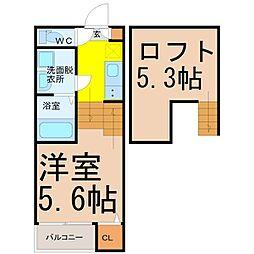 仮称)名東区宝が丘新築デザナーズB棟[2階]の間取り