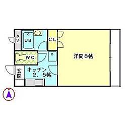 スペースエイト[2階]の間取り