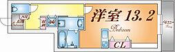 兵庫県神戸市須磨区磯馴町4丁目の賃貸アパートの間取り