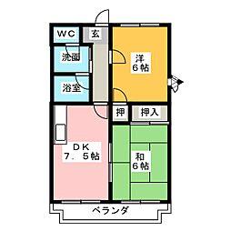 メゾンドフルーホ[4階]の間取り