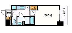 メインステージ名古屋ノースマーク 12階1Kの間取り