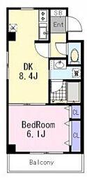 市両マンション[4階]の間取り