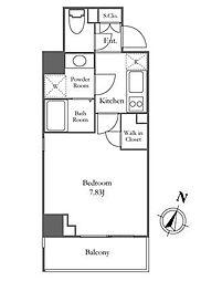 東京メトロ南北線 麻布十番駅 徒歩2分の賃貸マンション 3階1Kの間取り