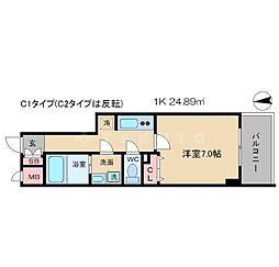 アドバンス大阪城グラシア[2階]の間取り