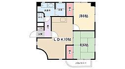大地ビルパート5[301号室]の間取り
