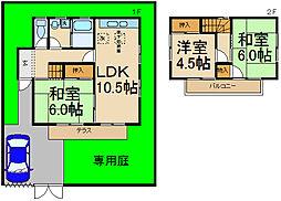 [一戸建] 茨城県つくば市森の里 の賃貸【/】の間取り