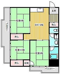 UR南港ひかりの団地[14-509号室]の間取り