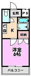 ワイケーマンション[1階]の間取り