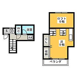 パーセル NAKAHARA[1階]の間取り