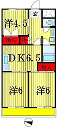 エトワール五香[3階]の間取り
