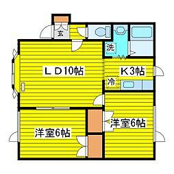 北海道札幌市東区本町一条5丁目の賃貸アパートの間取り