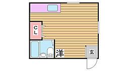 兵庫県神戸市兵庫区中道通4丁目の賃貸アパートの間取り