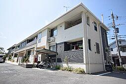 大阪府羽曳野市河原城の賃貸アパートの外観