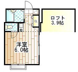 神奈川県相模原市南区相模大野5丁目の賃貸アパートの間取り