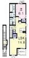 JR赤穂線 大多羅駅 徒歩15分の賃貸アパート 2階1LDKの間取り
