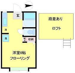 スカイパレスM6[2階]の間取り