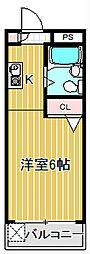 ミレー澤田[2階]の間取り
