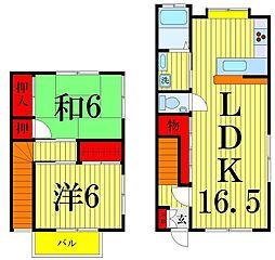 [テラスハウス] 東京都足立区中央本町5丁目 の賃貸【/】の間取り