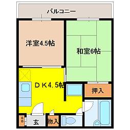 ファースト小阪[301号室]の間取り