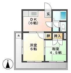 プリンスマンション[2階]の間取り