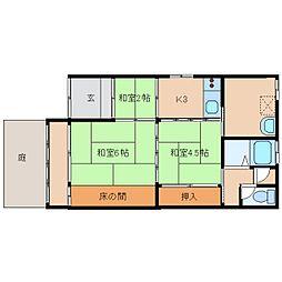 [一戸建] 奈良県奈良市西新在家号所町 の賃貸【/】の間取り