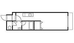 東洋ハイツB[3階]の間取り