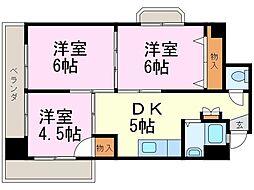 第3宮地マンション記念橋[408号室]の間取り