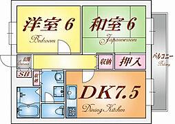 兵庫県神戸市長田区大塚町7丁目の賃貸アパートの間取り