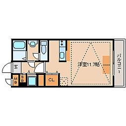 兵庫県尼崎市竹谷町1丁目の賃貸マンションの間取り