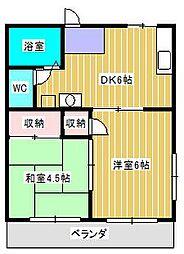 小西第5マンション[2階]の間取り
