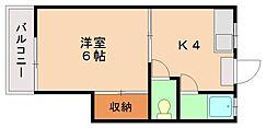 ピナクルハイツA[2階]の間取り