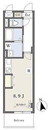荒町賃貸住宅 3階ワンルームの間取り