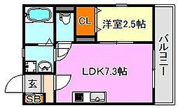 グルーブメゾン須磨東町[3階]の間取り
