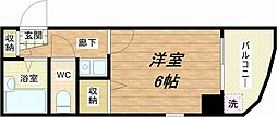 大国町青山ビル[8階]の間取り