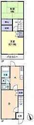 [テラスハウス] 千葉県八千代市高津東1丁目 の賃貸【/】の間取り