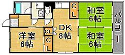 エーワン高取[3階]の間取り