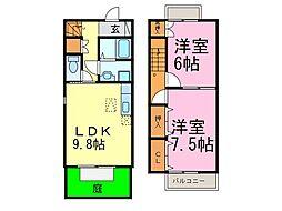 [テラスハウス] 愛知県半田市苗代町1丁目 の賃貸【/】の間取り