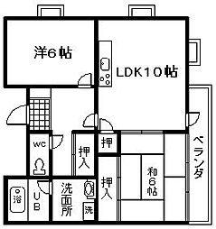 シャングリラ尾崎[401号室]の間取り