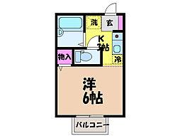 愛媛県松山市古川西2丁目の賃貸アパートの間取り