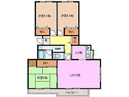 グレースマンション[2階]の間取り