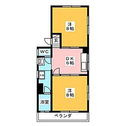 白菊ハイツ[1階]の間取り